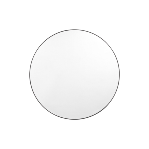 Middle of Nowhere Mirror Bjorn Round Mirror, Black