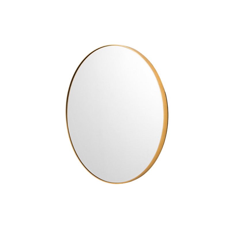 Middle of Nowhere Mirror Bjorn Round Mirror, Brass