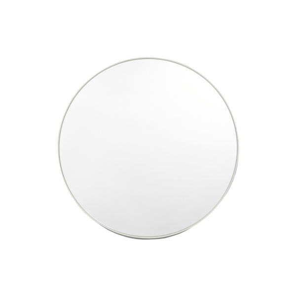 Middle of Nowhere Mirror Bjorn Round Mirror, Dove Grey