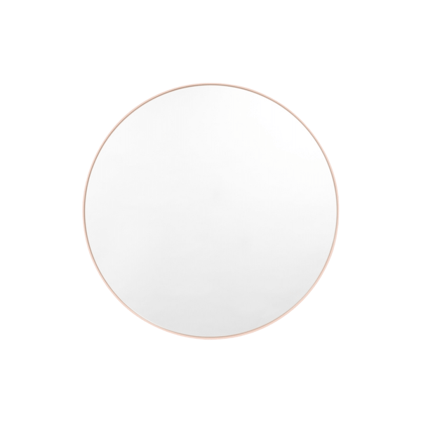 Middle of Nowhere Mirror Bjorn Round Mirror, Powder