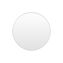 Middle of Nowhere Mirror Bjorn Round Mirror, Silver