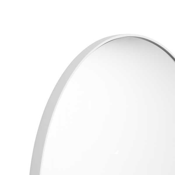 Middle of Nowhere Mirror Bjorn Round Mirror, White