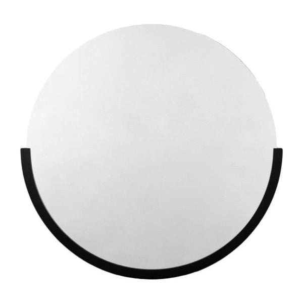 Middle of Nowhere Mirror Dawn Round Mirror, Black