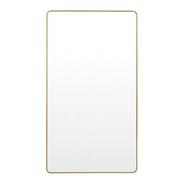 Middle of Nowhere Mirror Flynn Curve Leaner, Brass