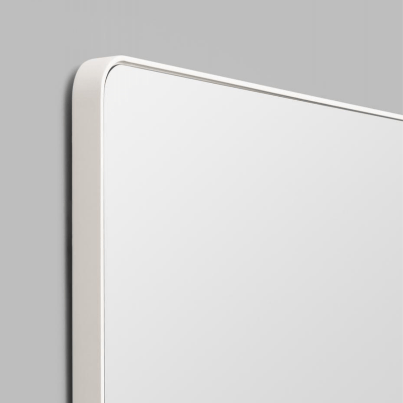Middle of Nowhere Mirror Flynn Curve Mirror, White