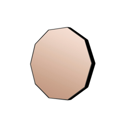 Middle of Nowhere Mirror Flynn Geo Mirror Black / Dusk