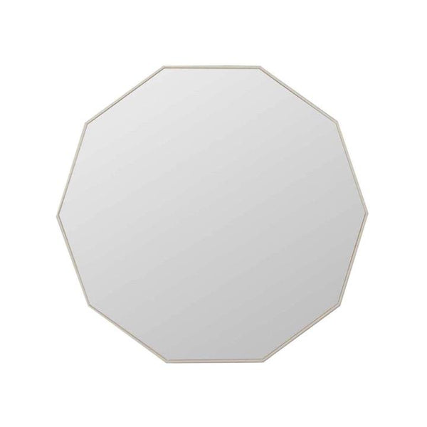 Middle of Nowhere Mirror Flynn Geo Mirror, Light Grey