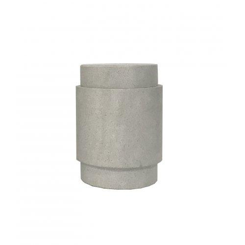 MRD Home Decorative Ned Stone Vessel Small, Pale Grey