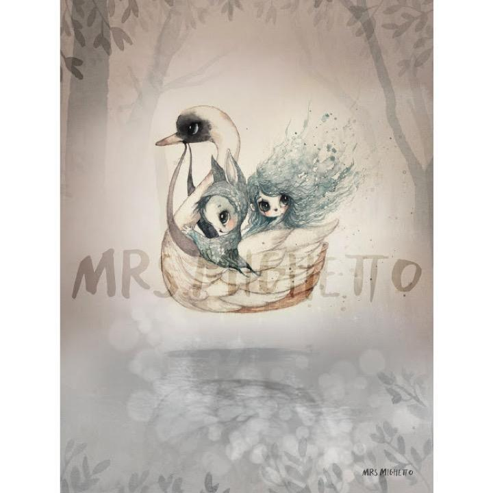 Mrs. Mighetto LP Artwork Miss Bianca & Swan Boat 2 Pack