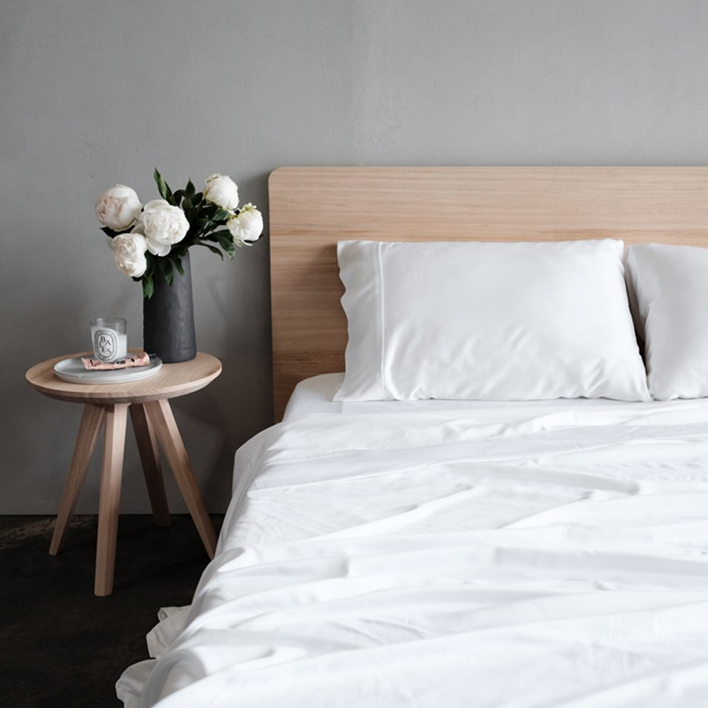 Bed Linen + Towels 100% Organic Bamboo Quilt Cover, White