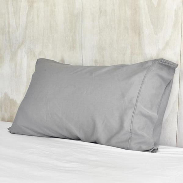 Mulberry Threads Co. Bed Linen + Towels Organic Bamboo Pillowslip, Steel