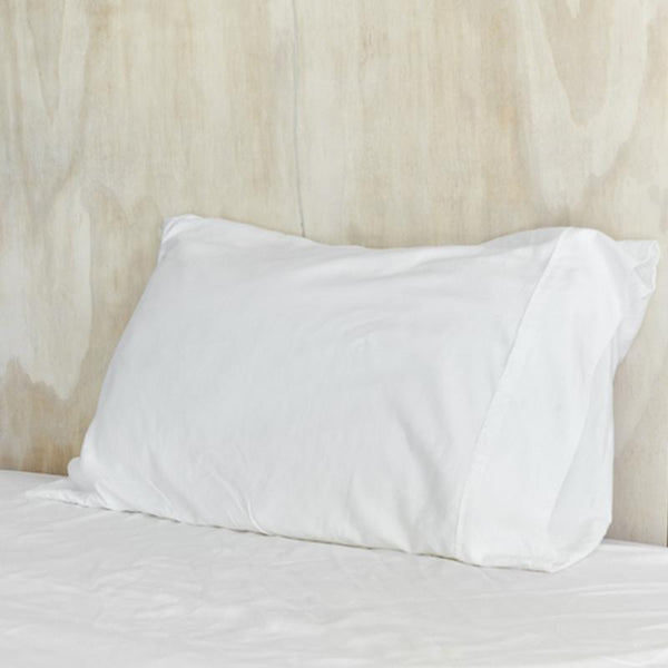 Mulberry Threads Co. Bed Linen + Towels Organic Bamboo Pillowslip, White