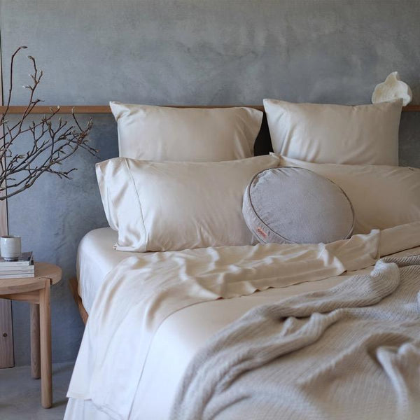 Mulberry Threads Co. Bed Linen + Towels Organic Bamboo Quilt Cover, Oat