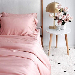 Mulberry Threads Co. Bed Linen + Towels Organic Bamboo Quilt Cover, Rose