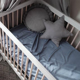 Mulberry Threads Co. LP Bedding Flat 100% Organic Bamboo Cot Sheet, Chambray