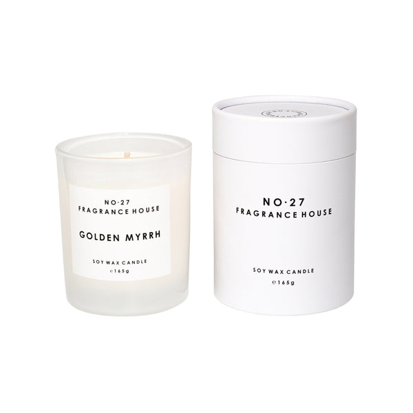 No. 27 Fragrance House Candle Golden Myrrh