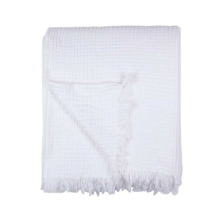 Saardé Home Bed Linen + Towels Enes Bed Cover in White