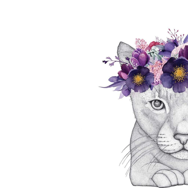 Taylored Dots LP Artwork Catherine The Cat With Flower Crown