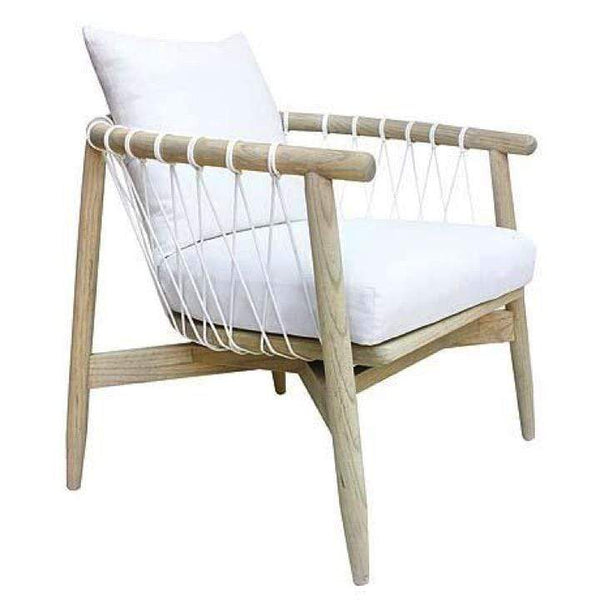 Uniqwa Chairs + Stools + Ottomans Arniston Occasional Chair, White by Uniqwa Furniture