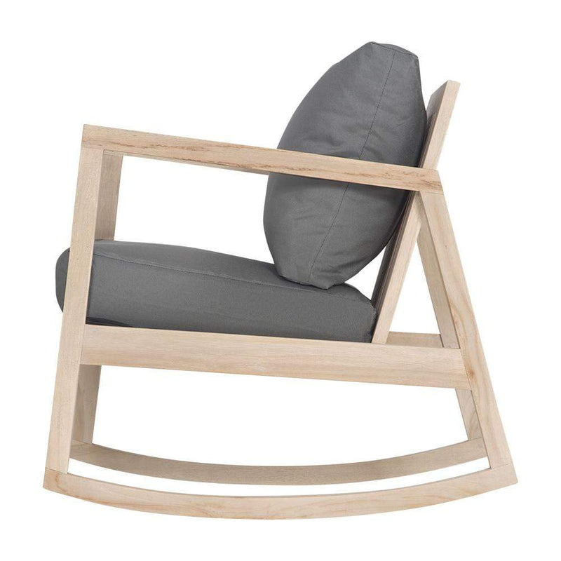 Uniqwa Chairs + Stools + Ottomans Bahama Rocking Chair, Charcoal by Uniqwa Furniture