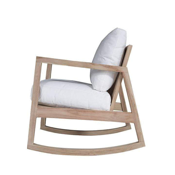 Uniqwa Chairs + Stools + Ottomans Bahama Rocking Chair, Cream by Uniqwa Furniture