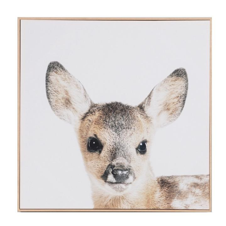 Warranbrooke LP Artwork Lovable Fawn Framed Canvas