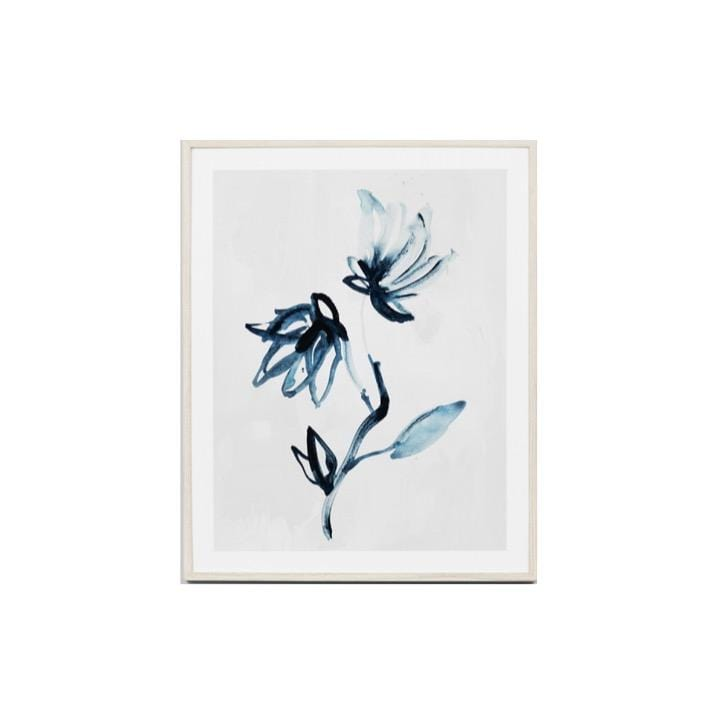 Warranbrooke Wall Art Flower 1 Indigo Flower Print