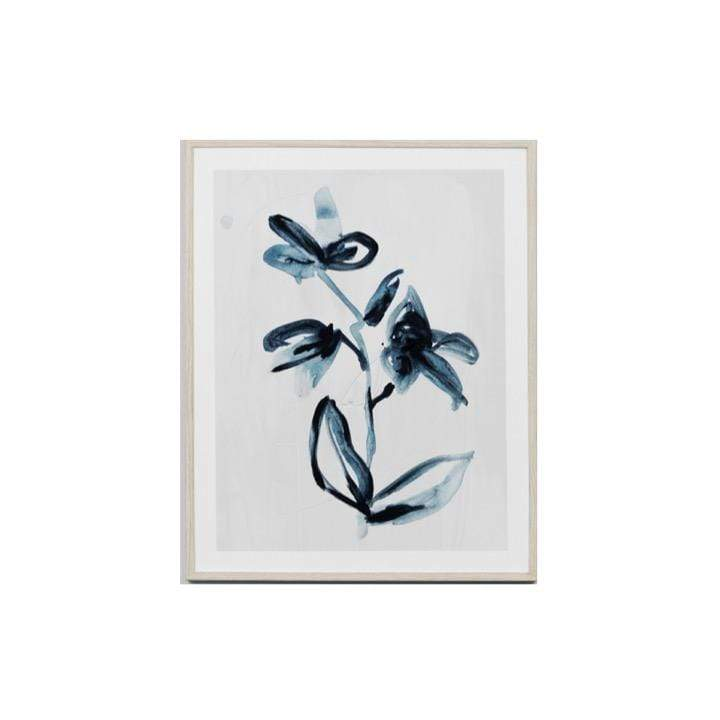 Warranbrooke Wall Art Flower 2 Indigo Flower Print