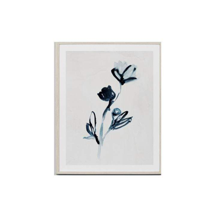 Warranbrooke Wall Art Flower 3 Indigo Flower Print