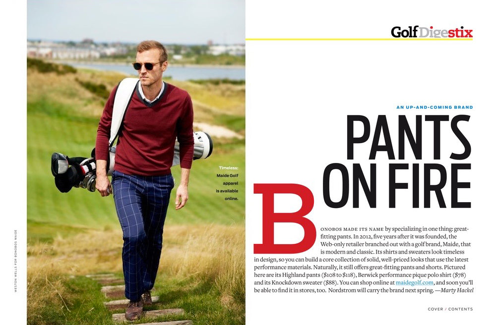 Pants On Fire Golf Digest Stix Jones Golf Bags
