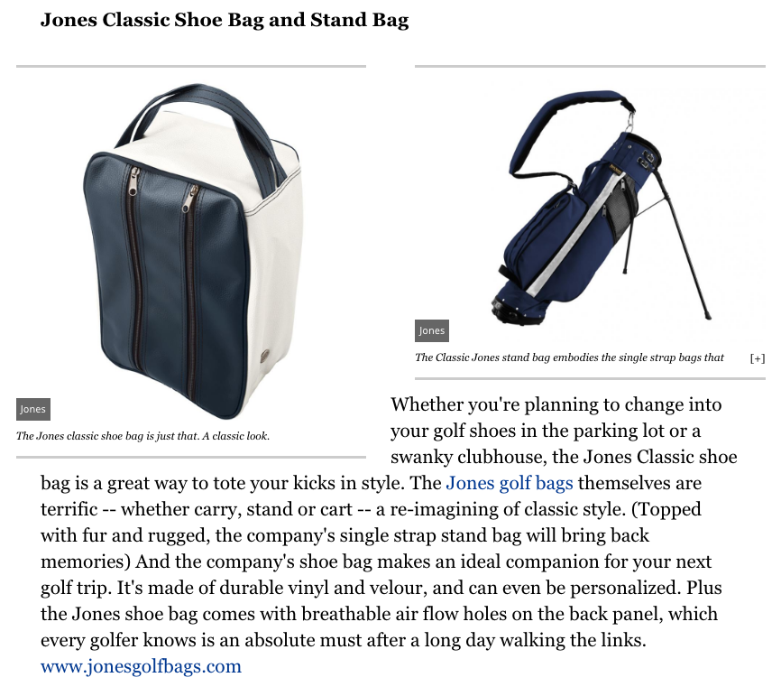 Forbes Magazine Jones Classic Shoe Bag and Stand Bag