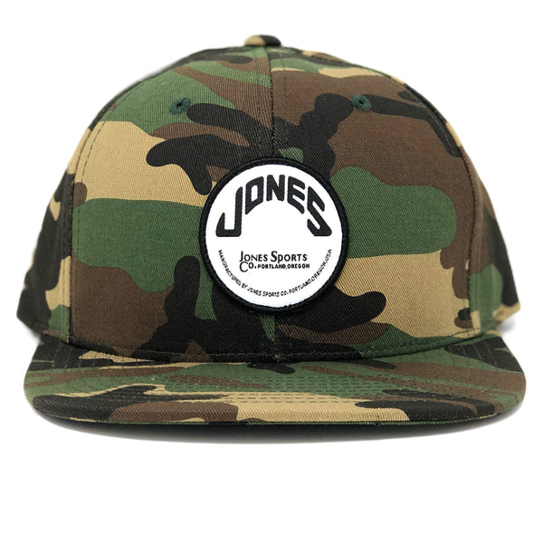 Jones Wool SnapBack Circle Patch - Camo