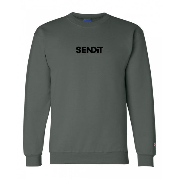 Send It Champion® Sweatshirt -Dark Green/Black