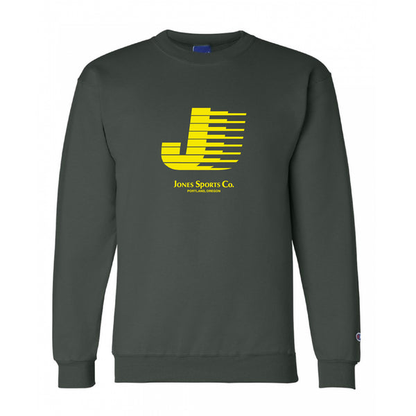 Flying J Champion® Sweatshirt -Dark Green/Yellow