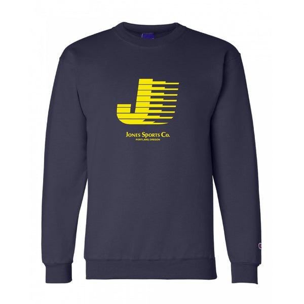 Flying J Champion® Sweatshirt - Navy/Yellow