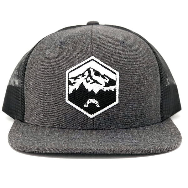 Jones Mt. Hood Wool Mesh SnapBack - Charcoal/Black