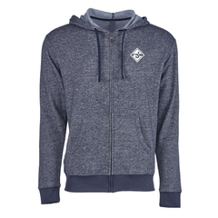 Utility Zip Hoodie - Heather Navy
