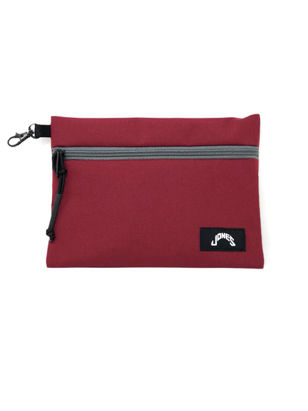 Jones Zipper Pouch - Burgundy