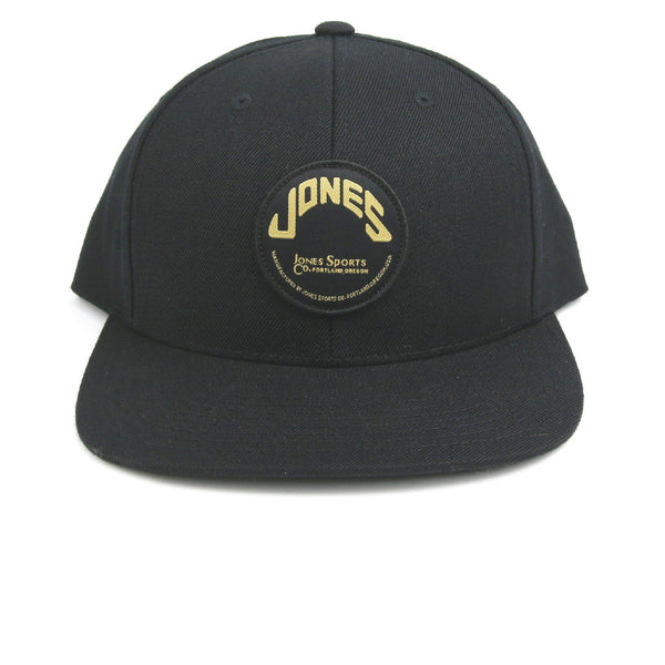 Jones Wool Snapback Circle Patch - Black Gold Combo