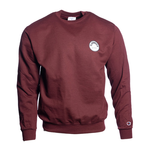 Jones Circle Patch Champion® Sweatshirt - Burgundy