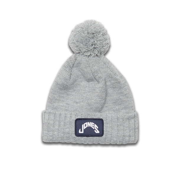 Jones Patch Beanie - Light Gray