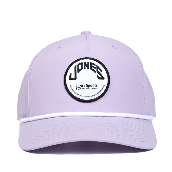 Jones Circle Patch Rope Hat - Lavender