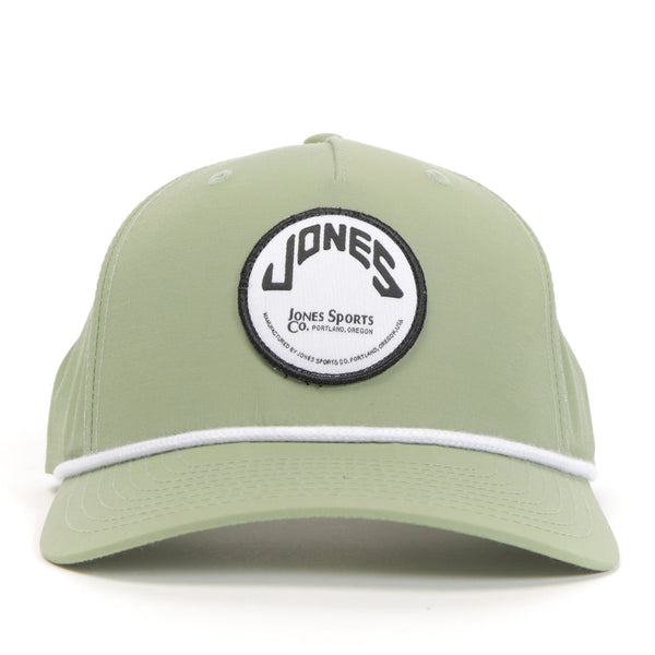 Jones Circle Patch Rope Hat - Olive