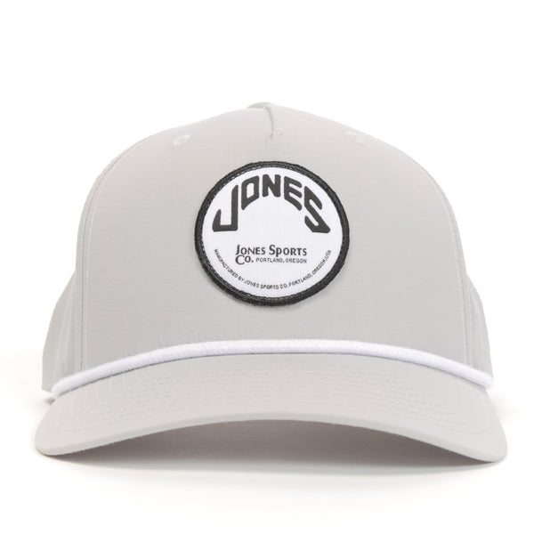 Jones Circle Patch Rope Hat - Stone