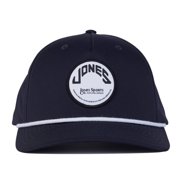 Jones Circle Patch Rope Hat - Navy