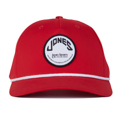 Jones Circle Patch Rope Hat - Red