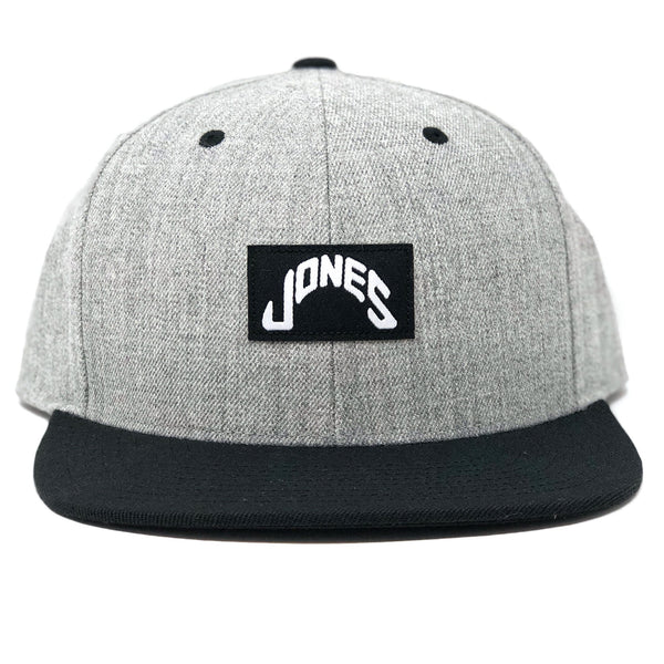 Jones Black Label Snapback - Heather Gray & Black