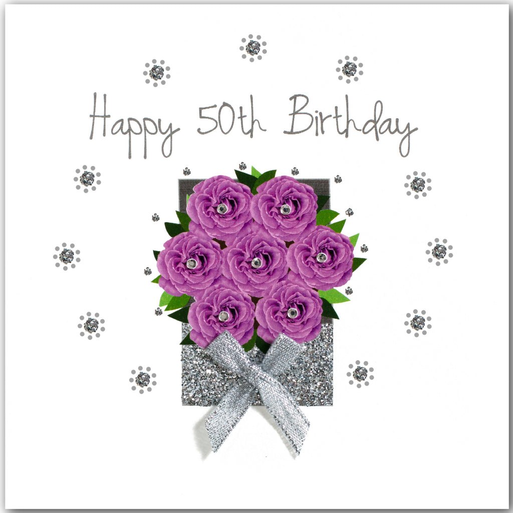 Rose Box 50th Birthday - L1788