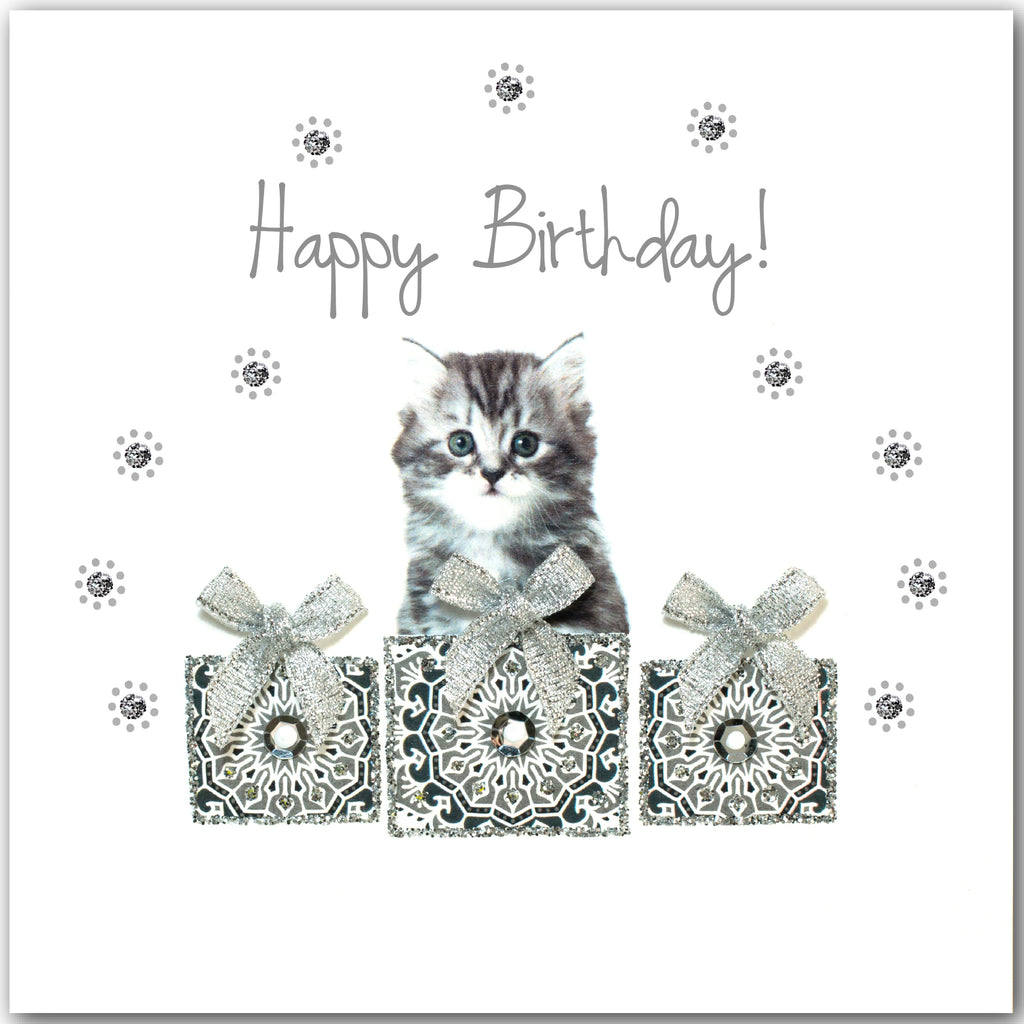 Birthday Grey Kitten - L1849