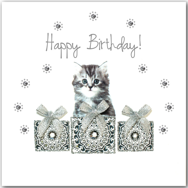 Birthday White Kitten - L1851